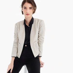 J. CREW 365 Boucle Blazer Jacket Taupe {W54}